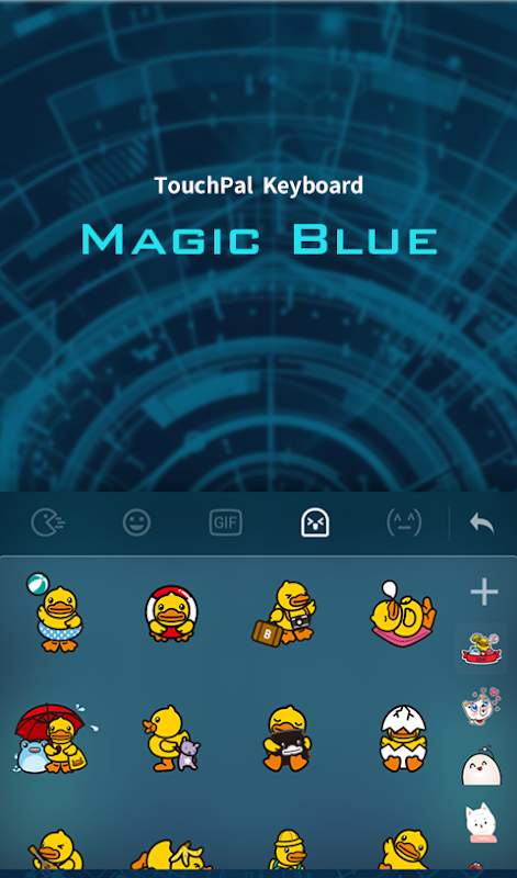 Android Magic Blue FREE Keyboard Theme Screen 4