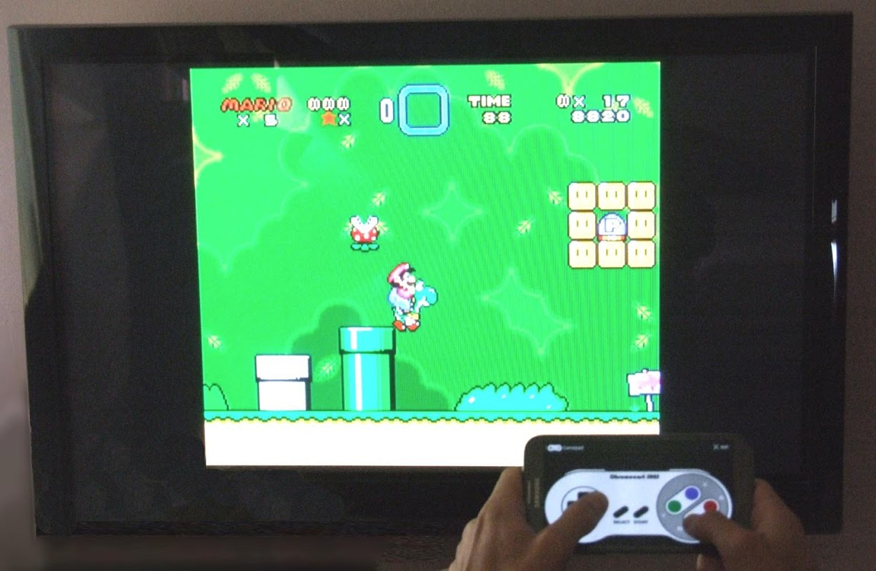 Android Chromecast SNES Emulator Screen 1