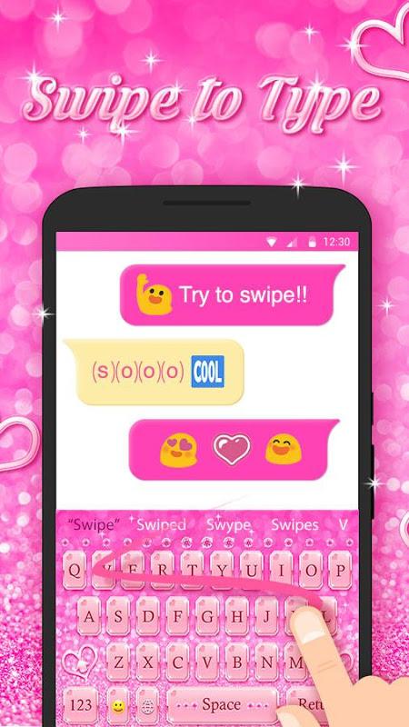 Android Best Keyboard Theme - Free Pink Love Emoji & Gif Screen 3