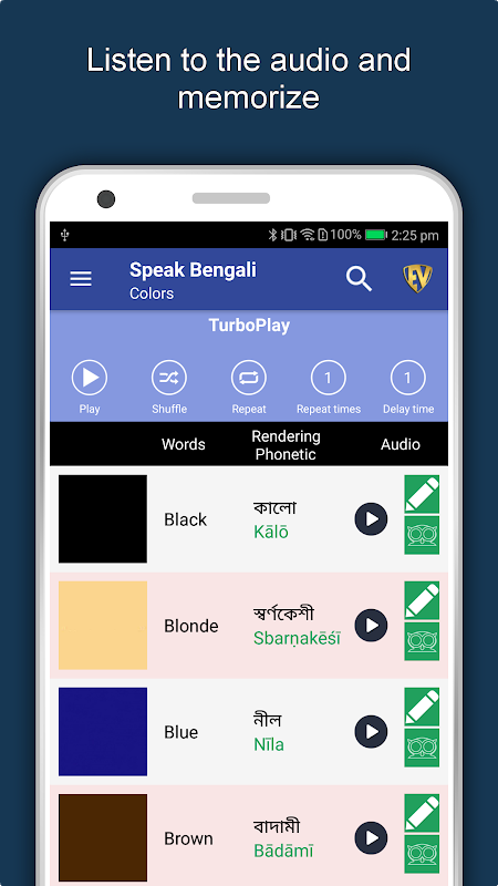 Speak Bengali : Learn Bengali Language Offline 1.0.6 Screen 1