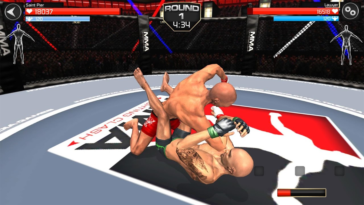 Android MMA Fighting Clash Screen 1