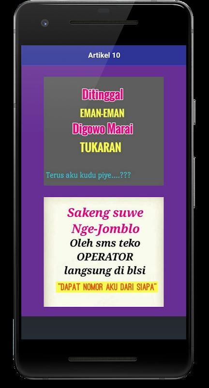 Kata Kata Lucu Bahasa Jawa Timur Bergambar Cikimmcom