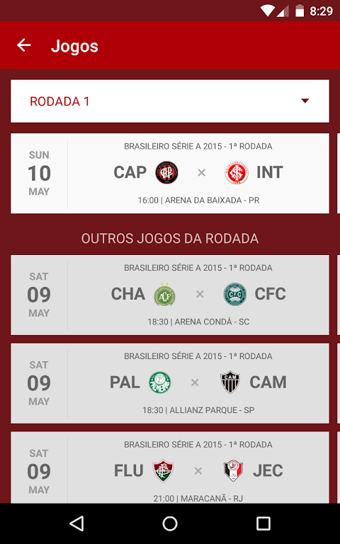 Android Internacional SporTV Screen 2