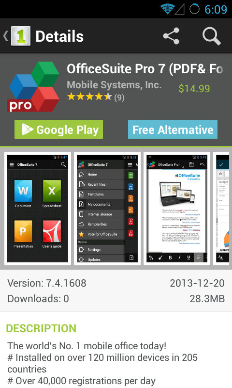 Android 1Mobile Market Pro Screen 3