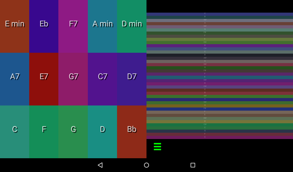 Android Color Autoharp Screen 2