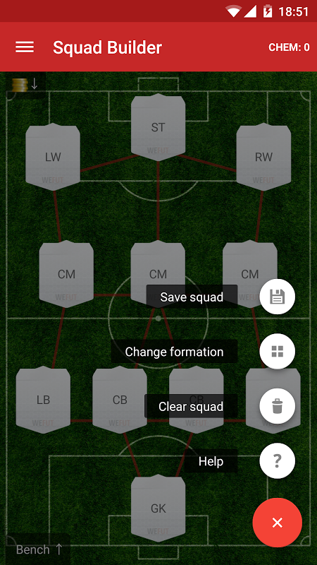 WeFUT - FUT 18 Draft, Squad Builder & Database 1.9 Screen 2