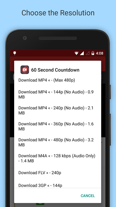 Android Tube Video Downloader Screen 1