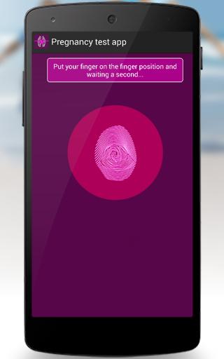 Pregnancy test app 1.1 Screen 1
