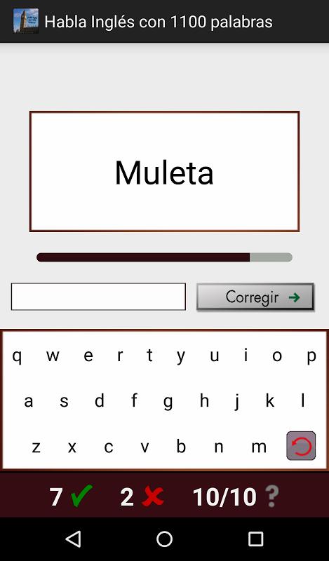 Android Habla Inglés con 1100 palabras Screen 6