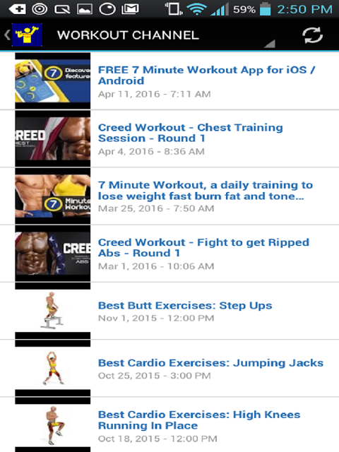 Android Workout Trainer Screen 19