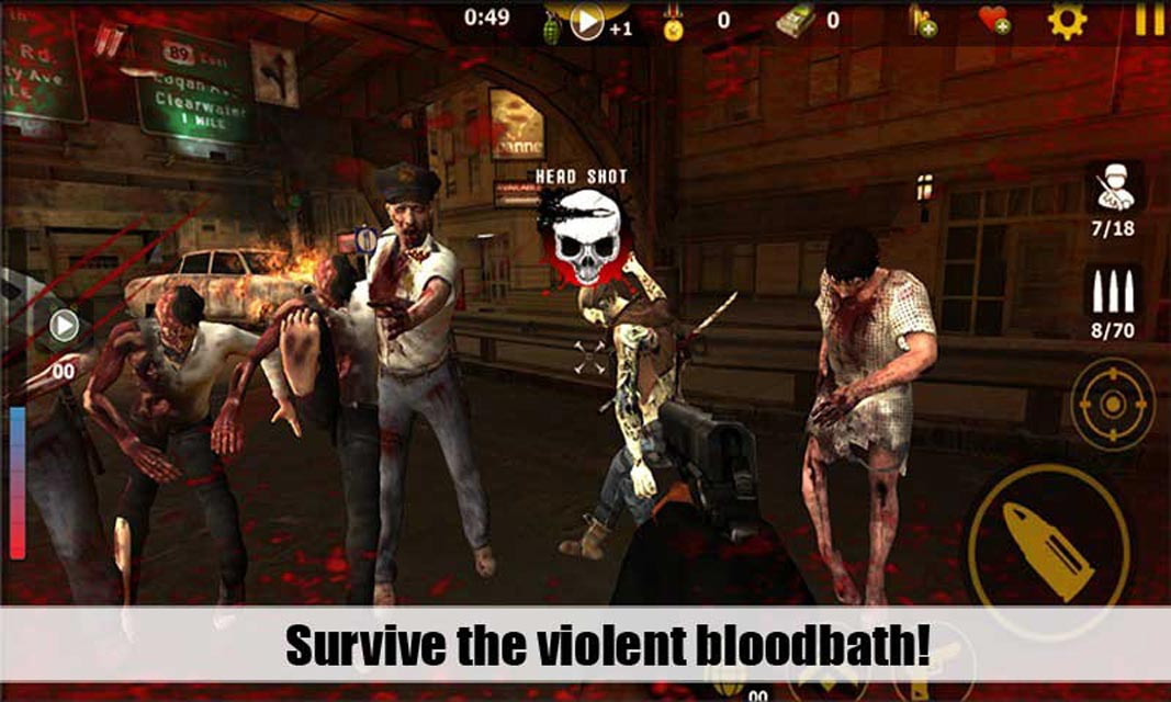 Zombies Attack 3D 1.2.4c Screen 2