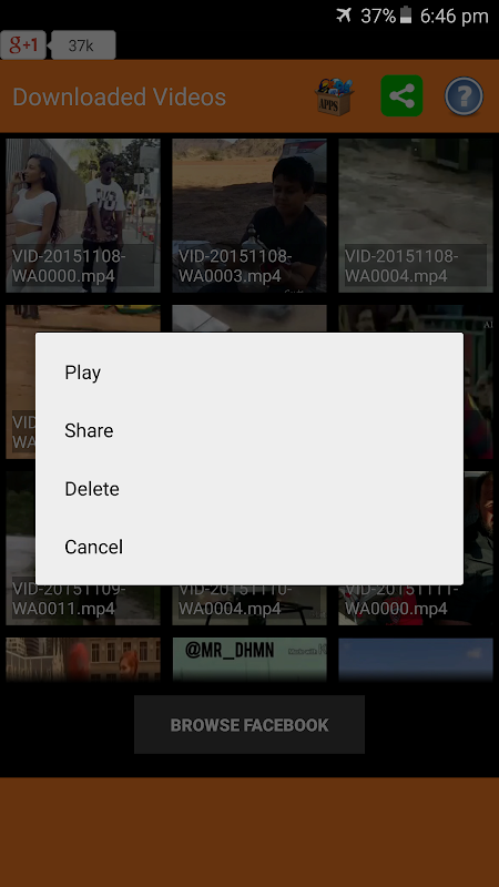 Android Video Downloader for Facebook Screen 4