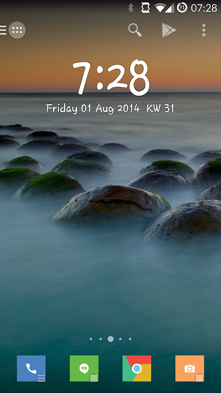 Android Minimalistic Text: Widgets Screen 7