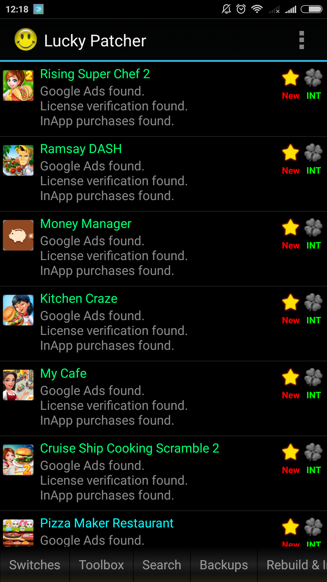 Lucky Patcher 6.7.3 Screen 2