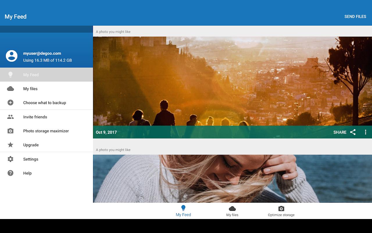 Android 100GB Free Cloud Storage Degoo Screen 11