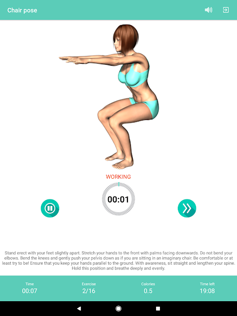 Android Yoga for weight loss -lose weight programat home Screen 5