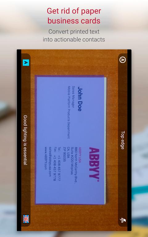 Business Card Reader Pro - Business Card Scanner 4.7.621 Screen 10