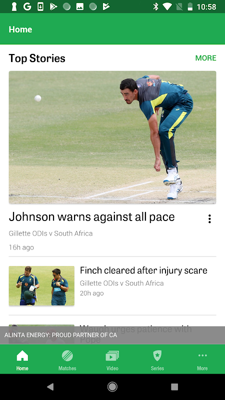 Android Cricket Australia Live Screen 4