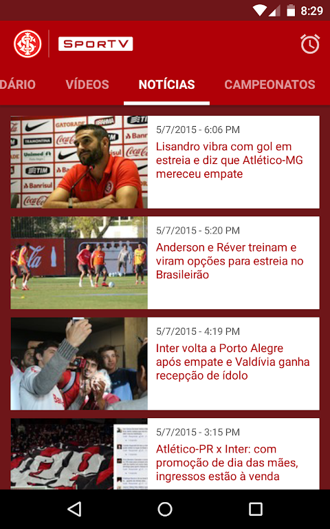Android Internacional SporTV Screen 5