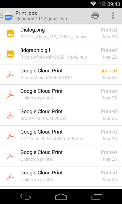 Cloud Print 1.11b Screen 12