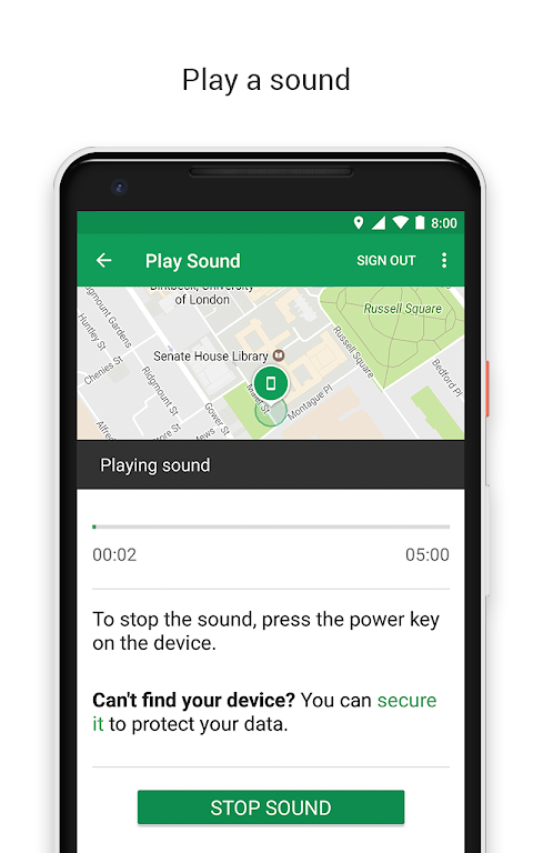 Find My Device 2.3.008 Screen 1