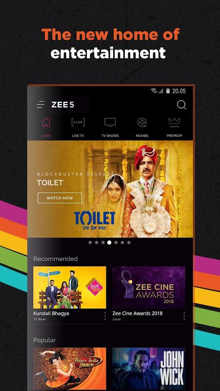 ZEE5 - Movies, TV Shows, LIVE TV & Originals 11.2.134 Screen 1