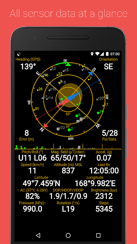 GPS Status & Toolbox 8.4.177 Screen 1