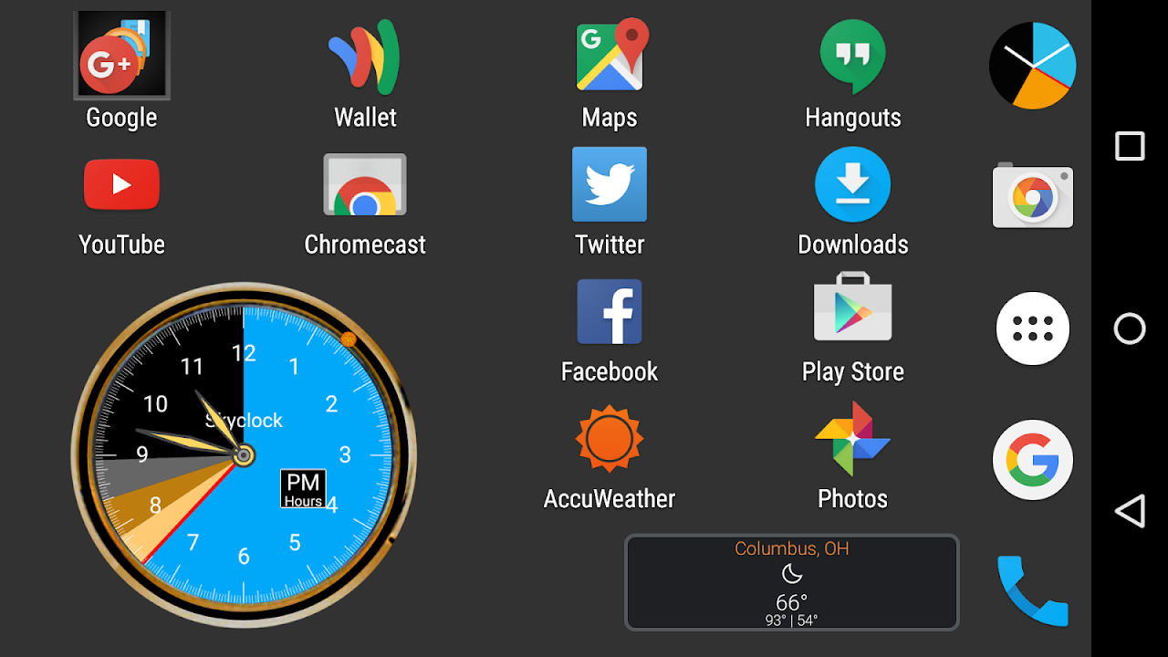 Android Skyclock Screen 5