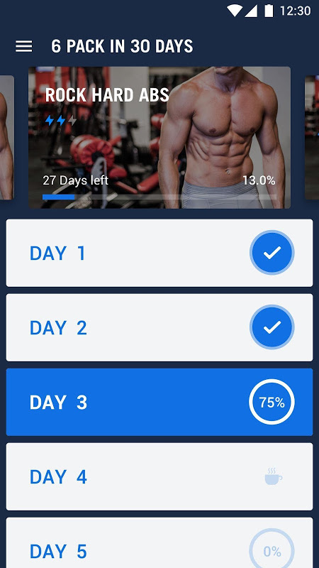 Six Pack in 30 Days - Abs Workout 1.0.10 Screen 1