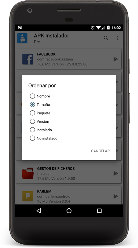 Android APK INSTALLER PRO Screen 2