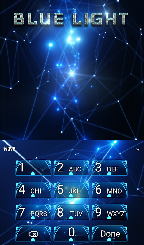 Android Blue Light Animated Keyboard Screen 4