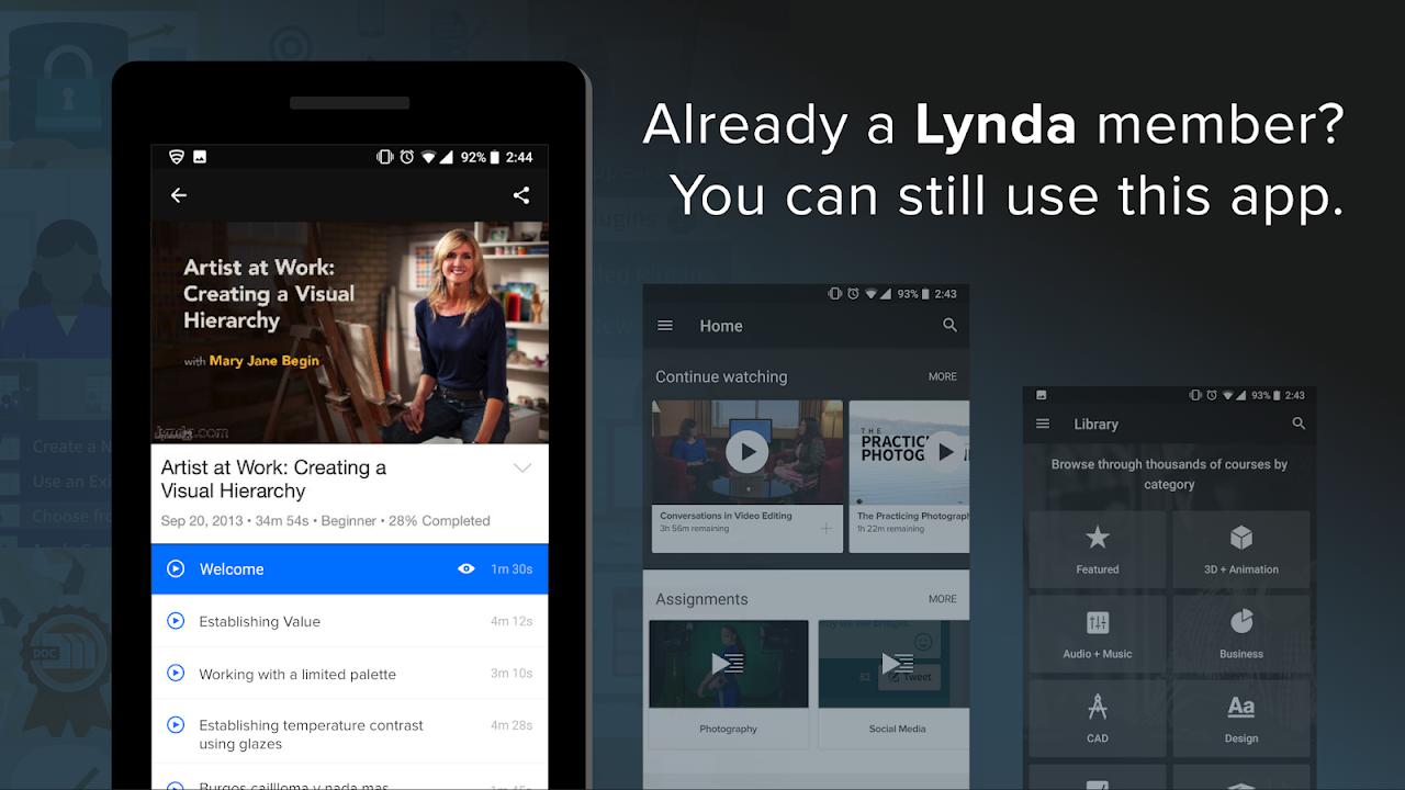 Android Lynda - Online Training Videos Screen 10