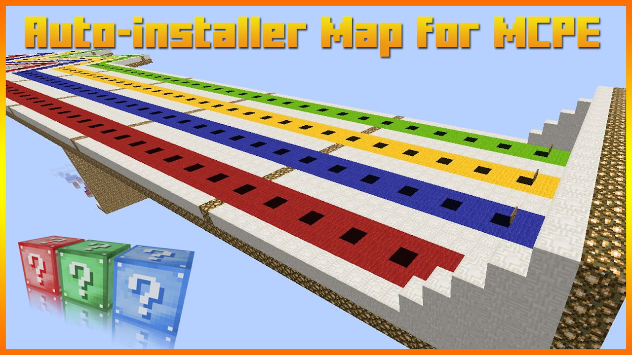 Lucky Block Race Map for MCPE 1.0 Screen 1