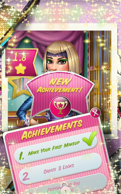 Android Makeup Game: Tris VIP Makeover Screen 2
