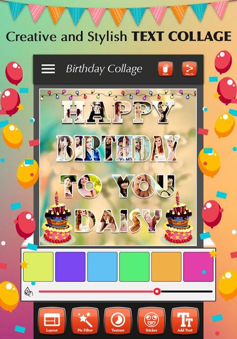 Happy Birthday Photo Collage 1.4 Screen 1