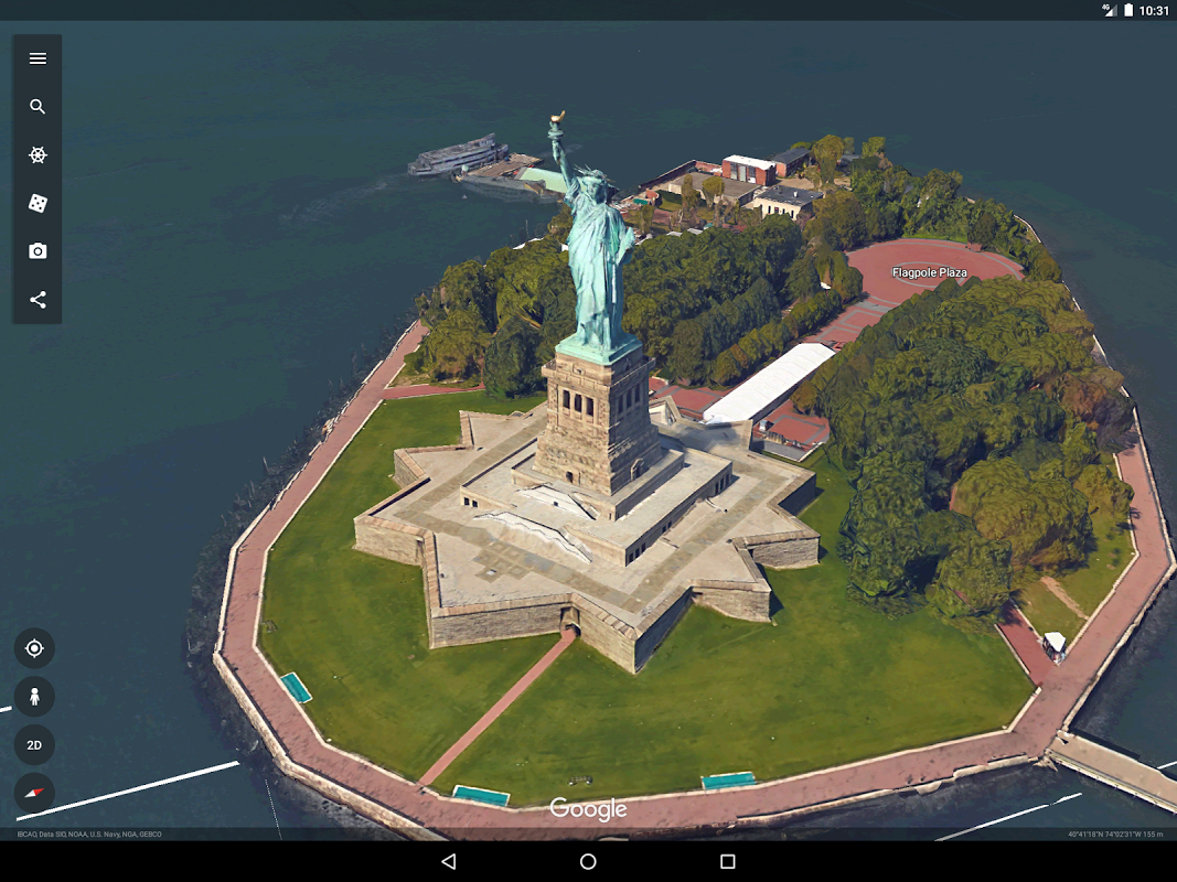 Android Google Earth Screen 8