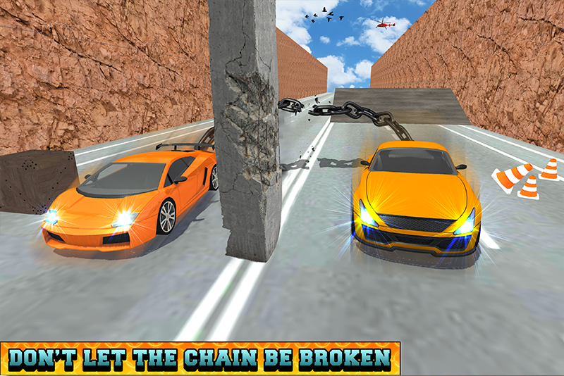Android Chained Cars Racing Stunts Screen 2