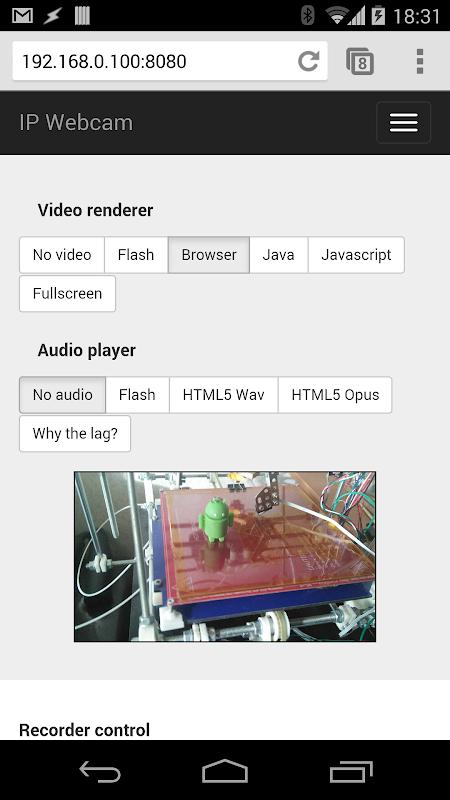IP Webcam 1.14.18.682 (arm) Screen 2
