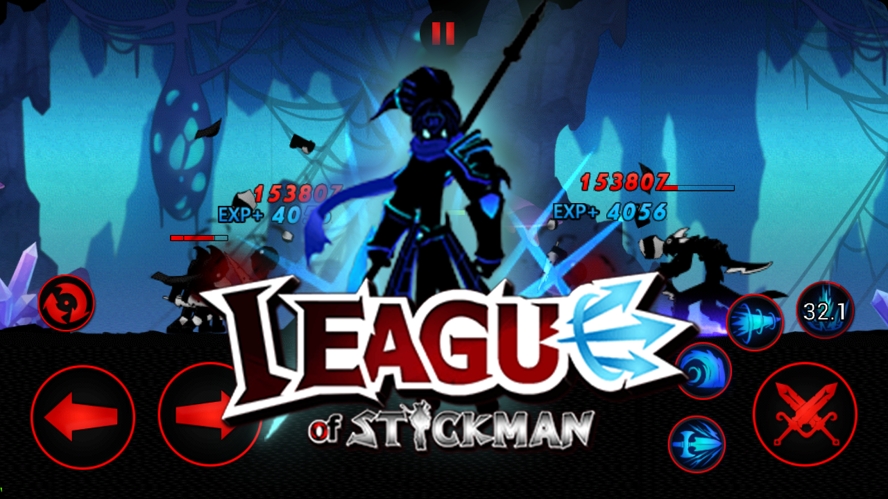 Android League of Stickman 2018- Ninja Arena PVP(Dreamsky) Screen 4