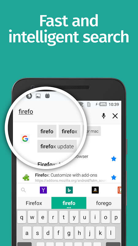 Android Firefox Browser fast & private Screen 2