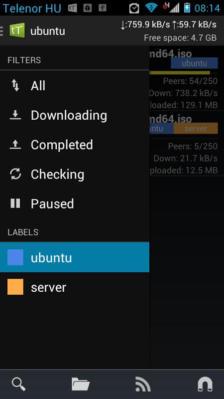 Android tTorrent Pro - Torrent Client Screen 9