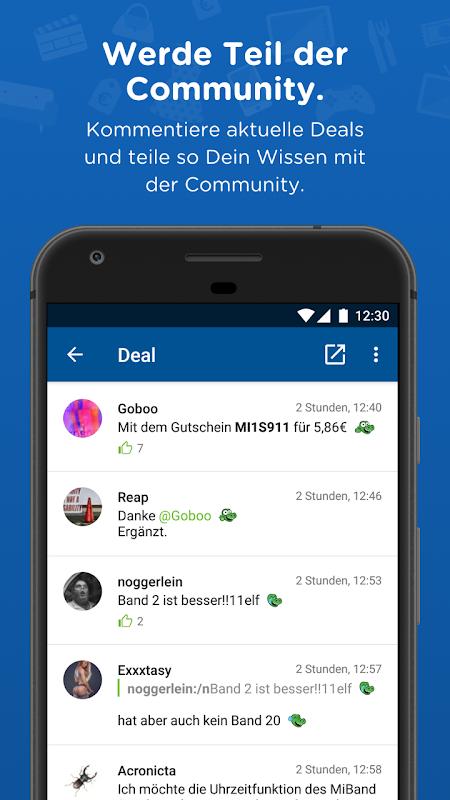 Android mydealz – Gutscheine, Schnäppchen, Angebote, Sale Screen 2