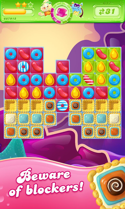 Android Candy Crush Jelly Saga Screen 3