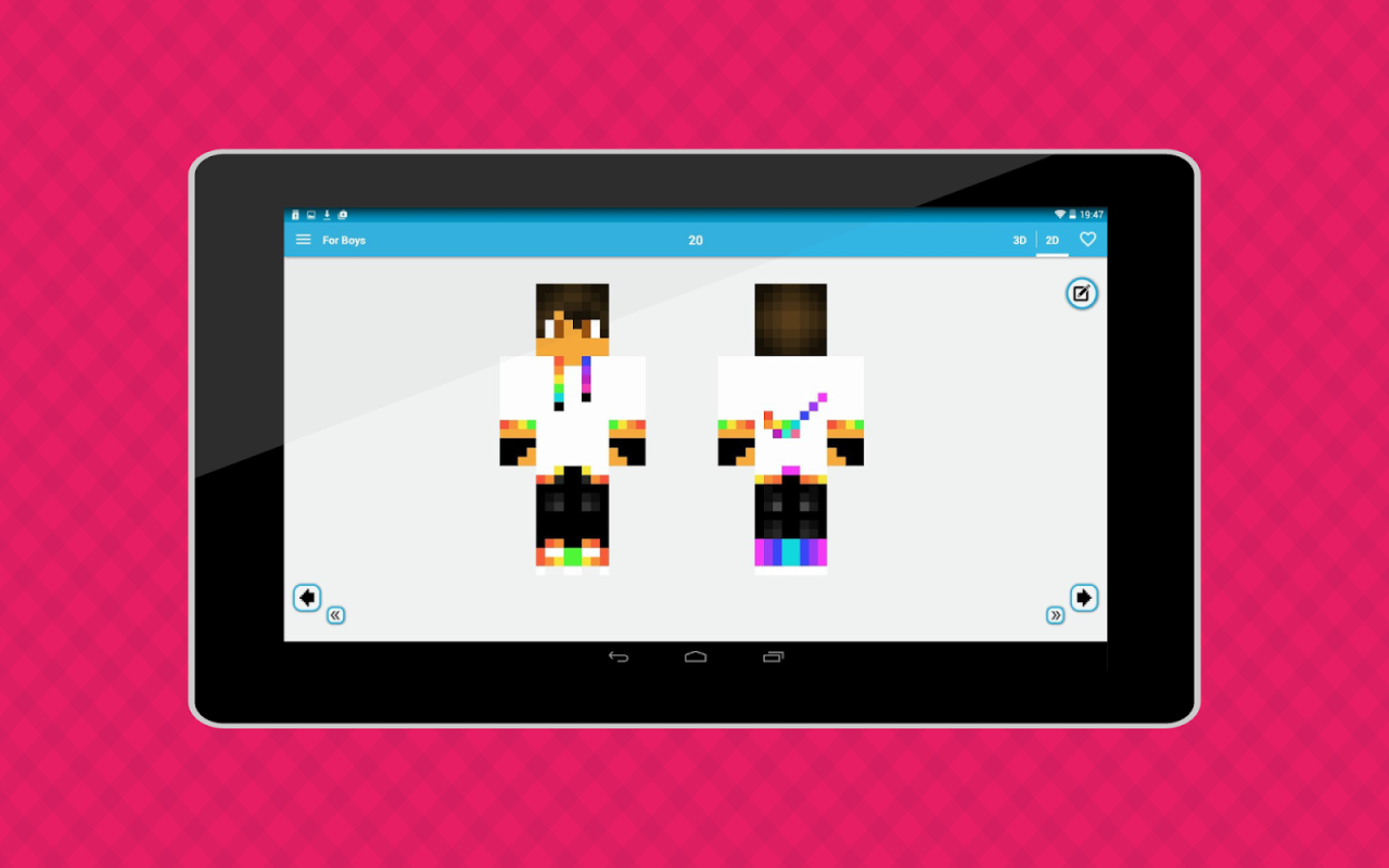 Android World of Skins Screen 2