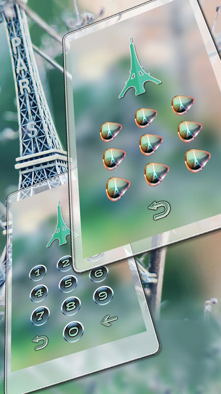 Android Eiffel Tower Of Paris Locker Screen 3