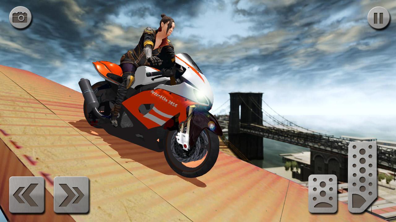 Android Impossible Mega Ramp Moto Bike Rider: Superhero 3D Screen 1