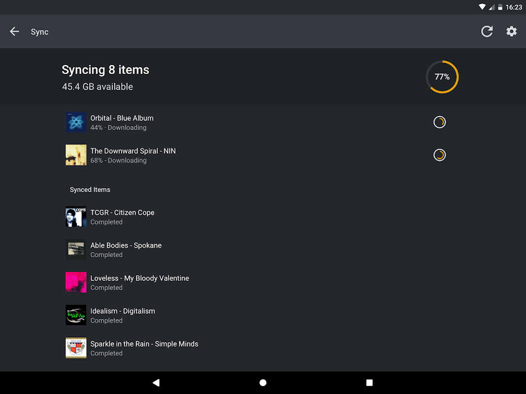 Android Plex Screen 12