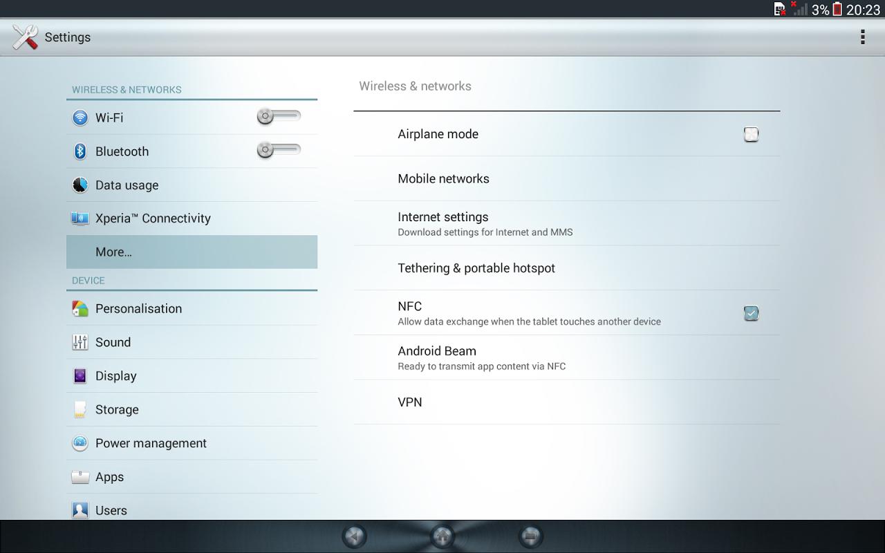 Android Xperia™ theme - Reality Screen 2