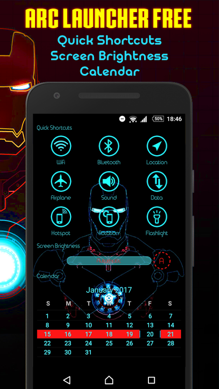 Android ARC Launcher Theme No Ads Screen 7