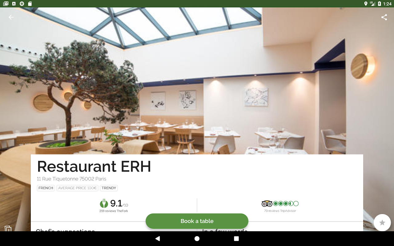 Android TheFork - Restaurants booking Screen 2